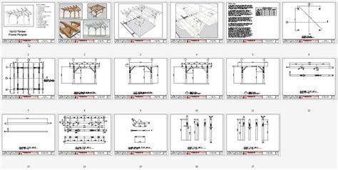 a frame plans free 12x12 timber frame pergola plan timber frame hq