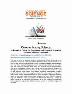 Pdf  Communicating Science  A Practical Guide For