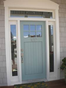 Blue Front Door Color For Brick House Mixed With Christmas