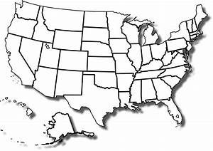 United States Map Blank Printable