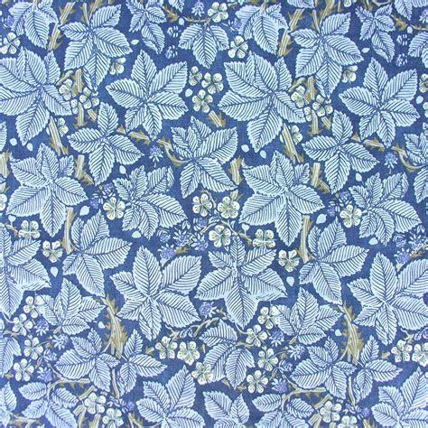 bathroom linen william morris linen cloth print bramble blue