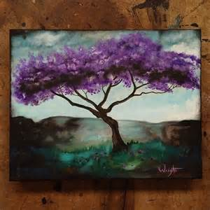 Purple Tree Painting