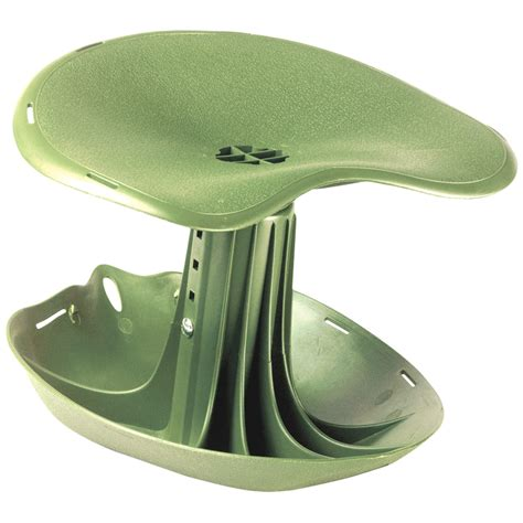 shop garden brand green plastic garden seat at lowes