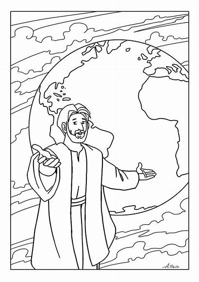 Coloring Pages Bible Sunday Commission Printable Disciples