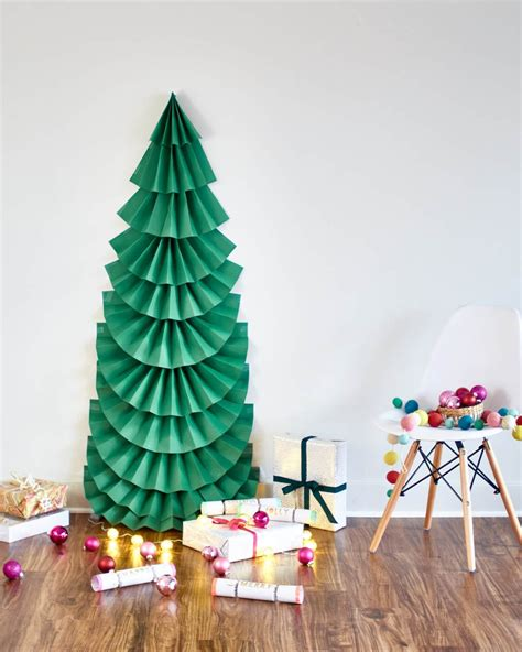 christmas tree out of paper make it diy sized folded paper tree curbly