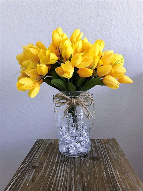 tulip flower arrangement  monogram decorative glass lantern glass lantern decoration glass