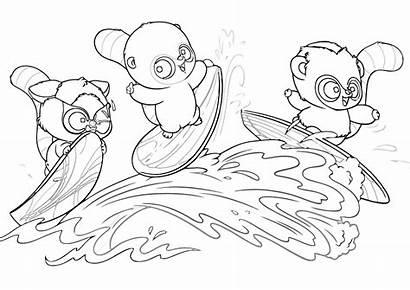 Coloring Yoohoo Friends Cartoon