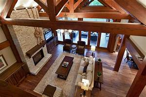 Luxury Timber Frame - Traditional - Living Room