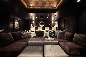Pit Sectional - Contemporary - media room - Alice Lane Home