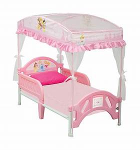 Exquisite Toddler Princess Bed With Canopy In Pink For