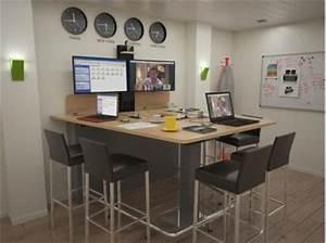 Table Haute 4 Personnes : steelnovel mobilier de visioconf rence ~ Melissatoandfro.com Idées de Décoration
