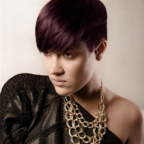 Hairstyle Pictures For by Purple Hair With The Sides And Back Cut Ultra