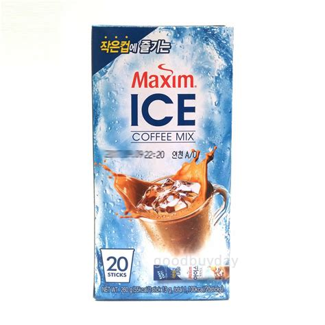 One cup is loaded with bold flavors and aroma that's neither too strong nor too mild. Korean Maxim Ice Instant Coffee Mix 20 / 50 Sticks