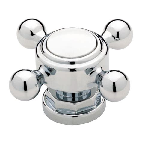 chrome kitchen cabinet knobs liberty 2 in chrome and white vintage faucet cabinet knob 5420