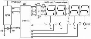 2 wire led display With led board schematic
