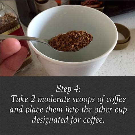 A scoop of coffee simply means a coffee measuring cup that can hold approximately 2 tablespoons of ground coffee and 1 tablespoon holds 0.18 the minimum time required to brew coffee is 3 minutes and it differs depending upon the type of coffee maker you are using. Step 4: Take two moderate scoops of coffee and place them into the other cup designated for ...