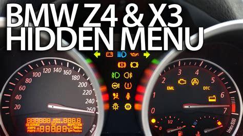 How To Enter Hidden Menu In Bmw Z4 (e85 E86) & X3 (e83