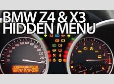 How to enter hidden menu in BMW Z4 E85 E86 & X3 E83
