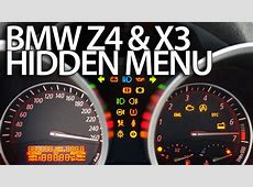 How to enter hidden menu in BMW Z4 E85 E86 & X3 E83