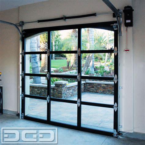 glass garage doors view glass metal garage doors for a