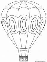 Balloon Air Coloring Printable Balloons Template Visit Craft Ballon Lego Crafts sketch template