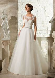 lace appliques on soft tulle morilee wedding dress style With dress wedding