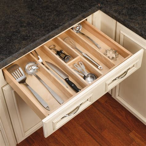 kitchen drawer organizer diy rev a shelf utility tray 24 quot w wood 4wut 3 cabinetparts 4720