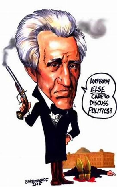 Common Jackson Andrew Era Cartoon Political Rise