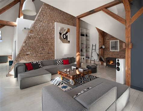 Apartment Rooms : Office Attic Converted Into Loft Apartment Keeping