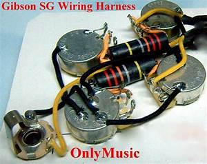 Compatible With Gibson Sg Bumble Bee Repro Vintage Wiring