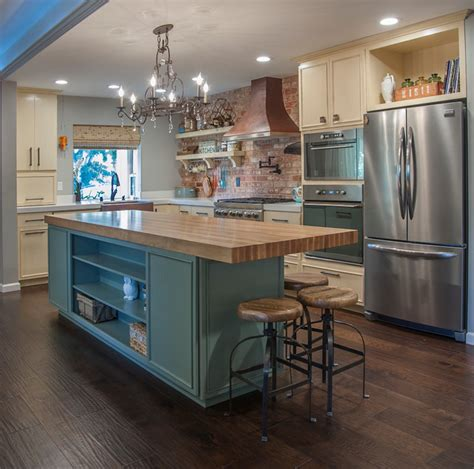 pictures of kitchens with islands eclectic kitchen botcher block 10x3 island traditional 7475