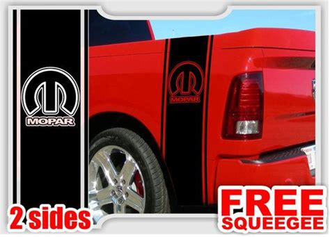 dodge ram truck mopar logo syle  bedside vinyl decal