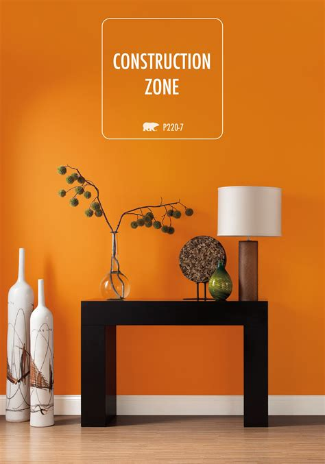 bring vibrancy to your home with this stunning shade of behr paint in construction zone try