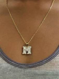 personalized 14k gold plated double 3d from myfamillystore on With letter plate necklace