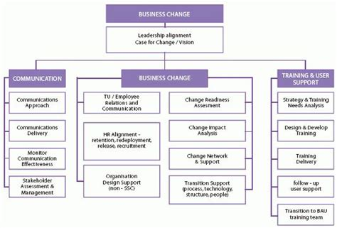 client side business change team structure  activities