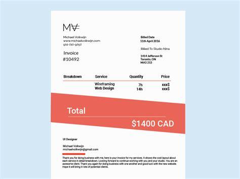 graphic design invoice templates