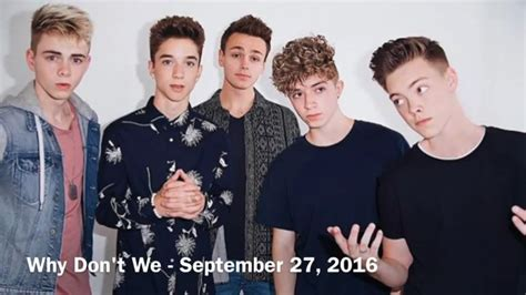 Names And Birthdays Of Why Don't We Youtube