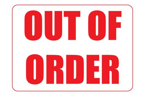 out of order sign printable www imgkid the image