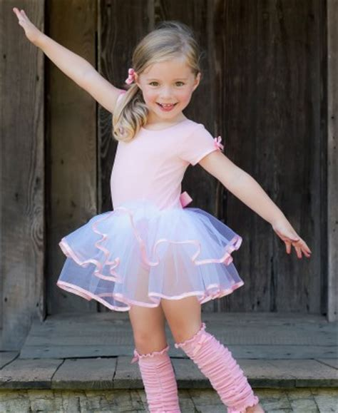 Ruf E S M Short Sleeve Pink White Tutu Leotard