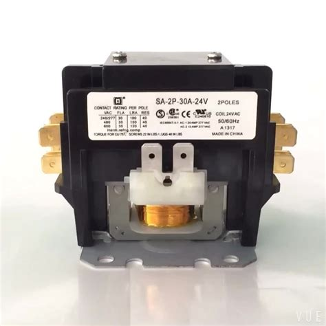 ul csa dp air conditioning magnetic contactor 2 poles 30 220v single phase contactor buy
