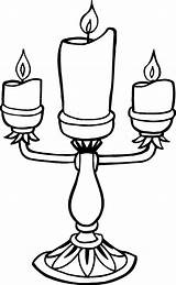 Coloring Candle Pages sketch template