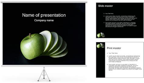 apple powerpoint template backgrounds id