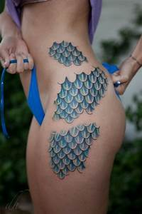 30 Mermaid Scales Tattoo Designs For Girls