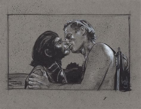 Taylor Kisses Zira, Planet Of The Apes By Jefflafferty On