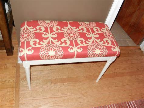 piano bench cushion cover from crappy piano bench to padded bench ideas