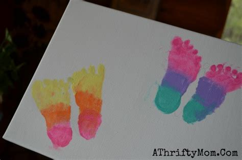 butterfly feet print art canvas mothers day baby