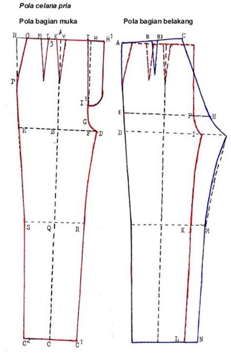 membuat pola dasar celana pria danitailor