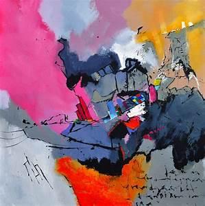 Tableau Rose Et Gris : tableau xxl gris et rose peinture abstraite toiles abstraites ~ Teatrodelosmanantiales.com Idées de Décoration