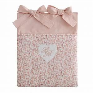 Maison Du Monde Lit Bebe : poche de lit b b motif fleuri en coton rose 28 x 33 cm ~ Zukunftsfamilie.com Idées de Décoration