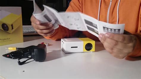 mini projector led unboxing in the